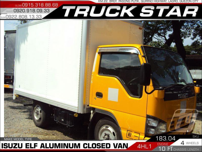 2017 Isuzu Elf Aluminum Closed Van for sale   100 000 Km